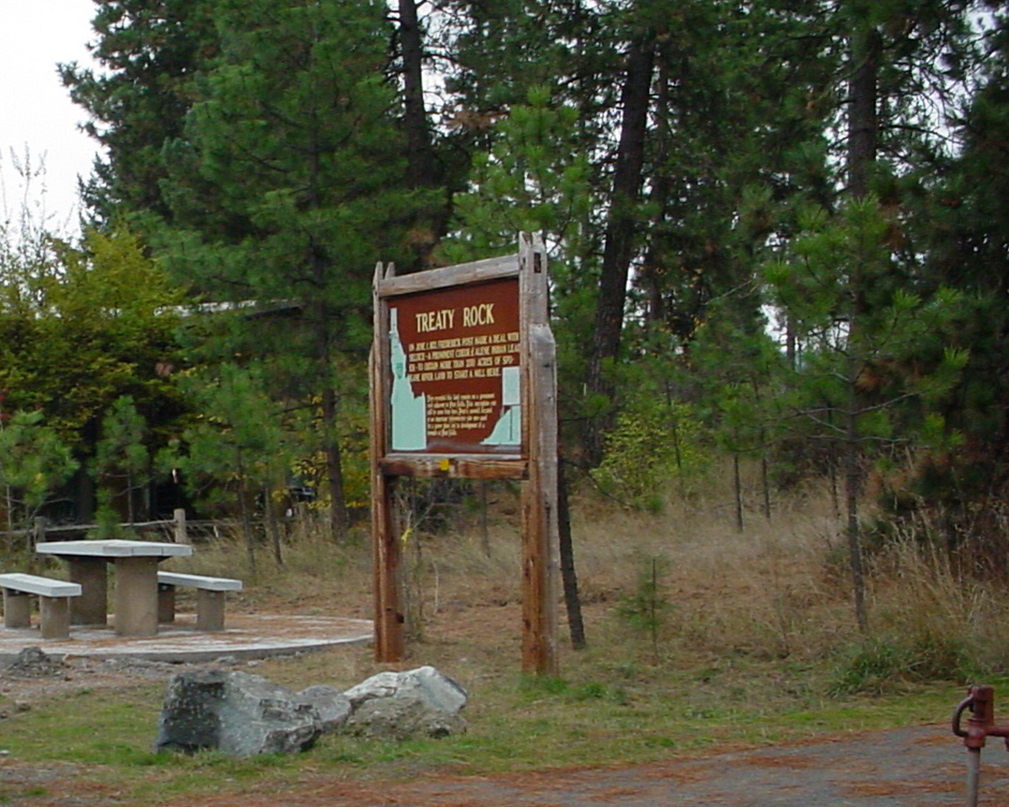 treaty rock sign