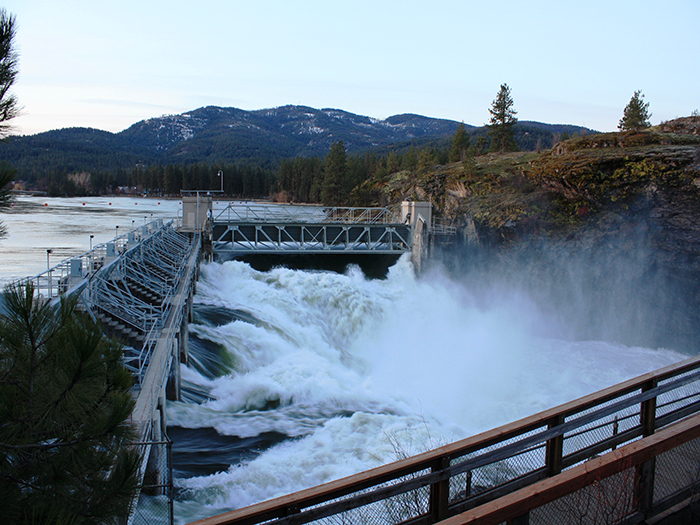 The Avista Dam at the Falls in the Spring